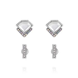 New Glacial Edge Stud Duo Earrings